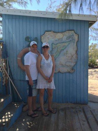 Salt Cay Divers: map of salt key at the dive shop