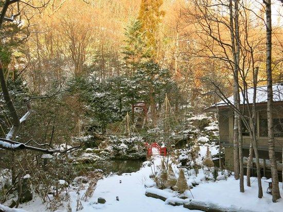 Takinoya: View of outside garden