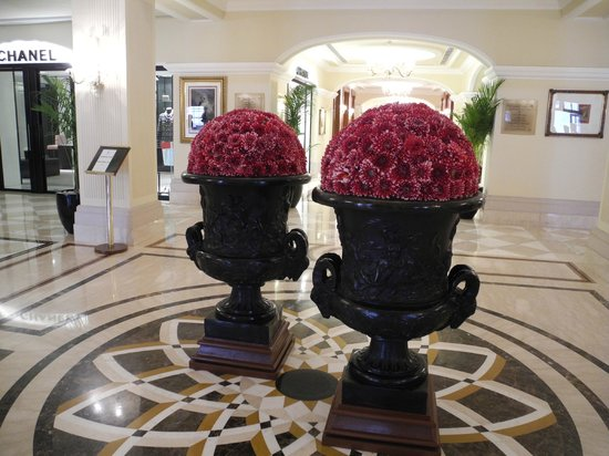 The Imperial Hotel: Floral arrangements are everywhere