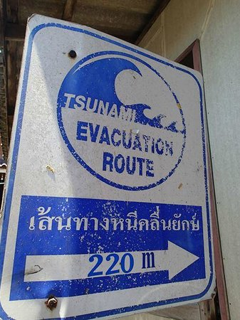 Ko Panyi, Thái Lan: Tsunami evacuation sign board
