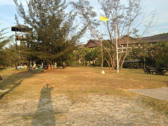 Nexus Resort & Spa Karambunai: View from the beach