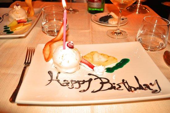 Ristorante Museo Caruso: Happy Birthday Dessert Course