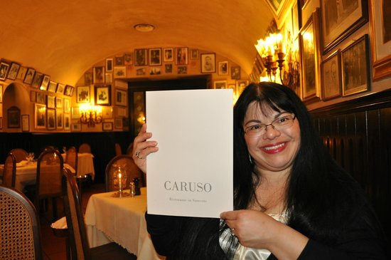 Ristorante Museo Caruso: The Birthday Woman with her little gift.