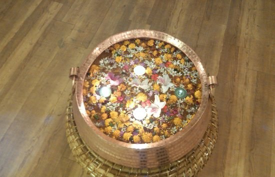 Krishna Service Apartment: Traditional Welcome Gesture