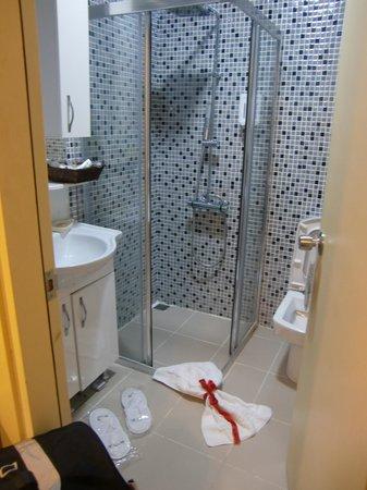 Angel's Home Hotel: シャワー、トイレ。ドライヤーもあります。