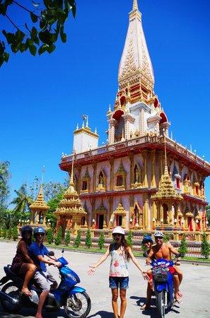 Wat Chalong: Cruisin' on the motorbikes