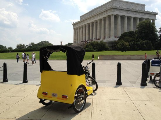 DC Pedicab: The Henry Bacon-designed Lincoln Memorial