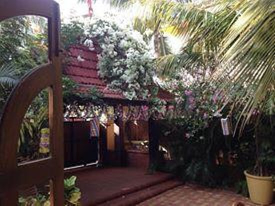 Bougainvillea Guest House Goa: Amazing entrance loaded with bougainvilla flowers