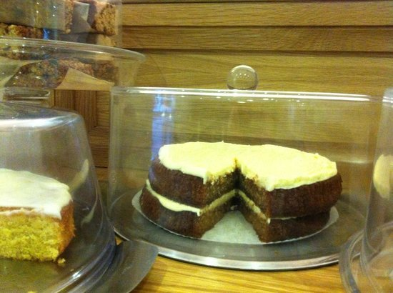 Nichols Vegetarian Delicatessen: All our cakes are made by us