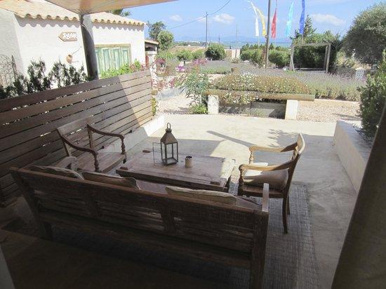 La Masía de Formentera: Terraza