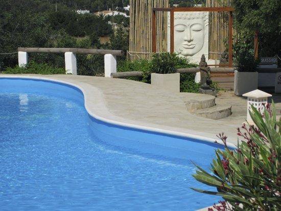 La Masía de Formentera: Zona piscina