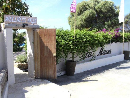 La Masía de Formentera: Entrada zona wellness