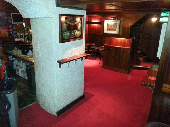 The Dawson Lounge: Side of bar view