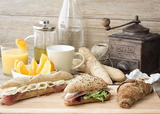 Urban Coffee: Nice selection of sandwich, begets and croissants.
