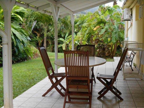 Habitation Grande Anse: terrasse arrière