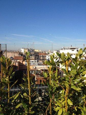 Hotel De Petris: uitzicht ontbijt terras