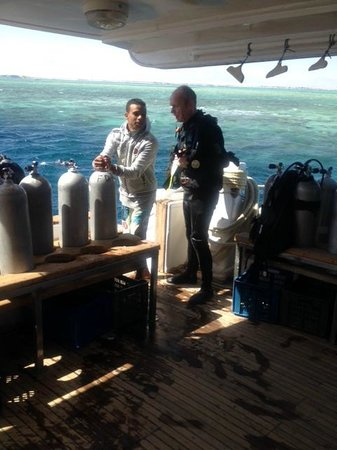 Scuba Hurghada Diving Center : On the dive deck of FunnyDivers