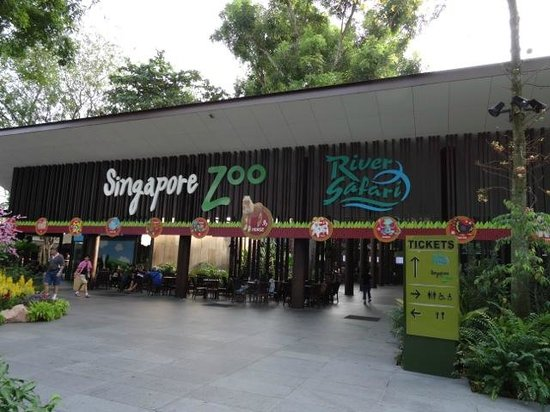 Singapore Zoo: Zoo Entrance (River Safari Entrance is actually another hundred metres plus away)