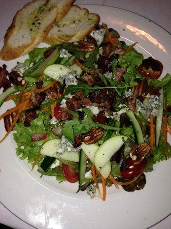 Quo Restaurant: Traditional bacon, gorgonzola salad with lemon dressing