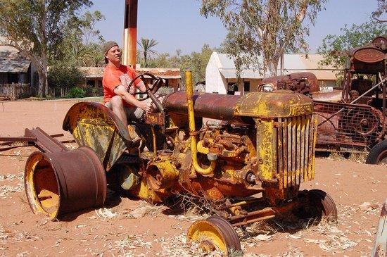 Hermannsburg Historic Precinct: old tractor no longer in the grounds