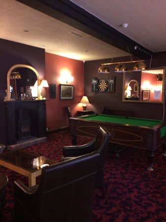 The Black Swan: Games area...pool...darts...chess...TV...duke box