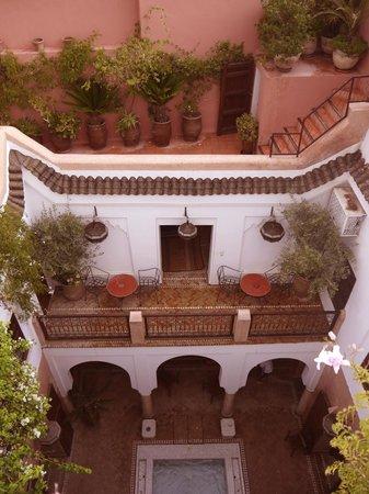 Dar Warda: Courtyard from above.