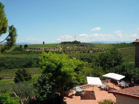 Agriturismo Bruscola: panorama colline del Chianti