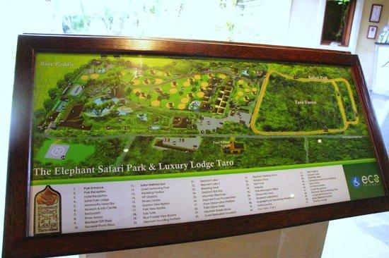 Elephant Safari Park & Lodge: Map