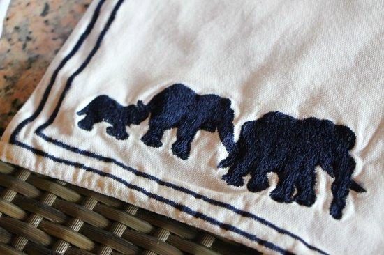 Elephant Safari Park & Lodge : Tablecloth