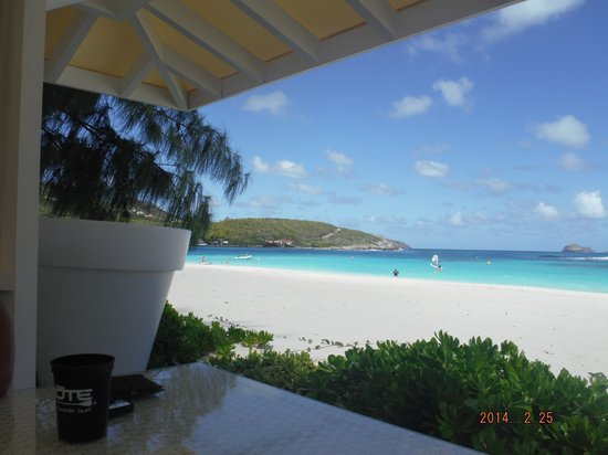 Hotel Emeraude Plage: From the breakfast view