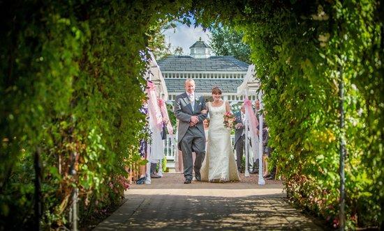 The Old Kent Barn Wedding Aisle