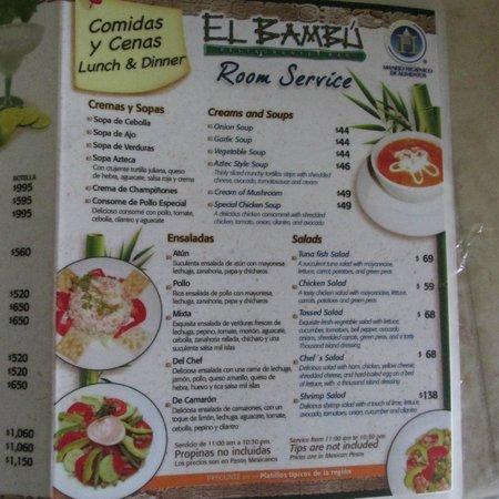 El Palenque Restaurant Menu