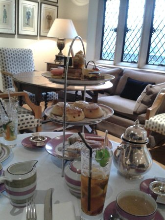 Afternoon Tea at Great Fosters, Feb 2014.