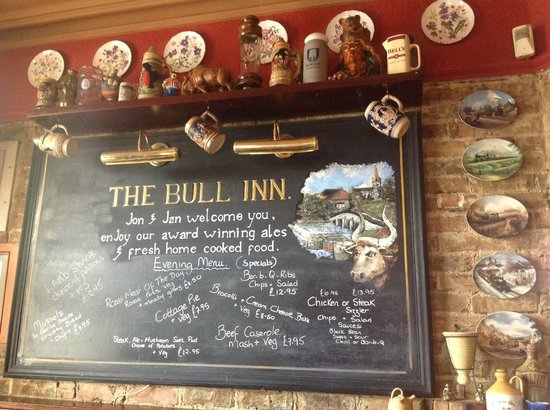The Bull Inn East Farleigh: THE BULLS SPECIAL BOARD