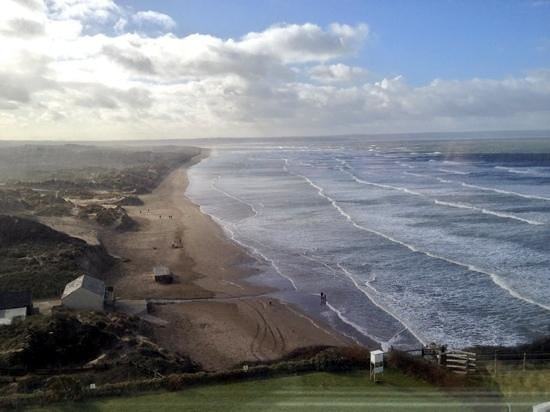 Saunton Sands Hotel: view from a seafacing room on 3rd floor