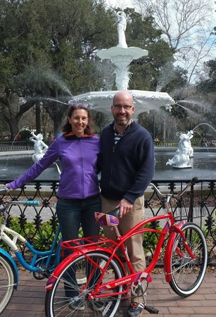 Savannah Bike Tours: picture of us taken by Dee at Forsyth Park