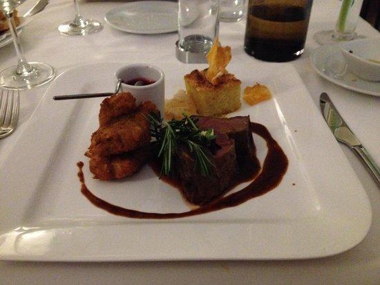 Restaurant Entler : Venison 2 ways - yum!