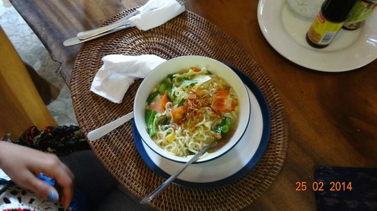Nirwa Ubud Homestay: The yummy Noodle Soup