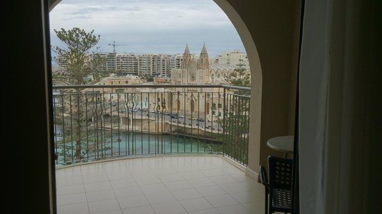 Le Meridien St. Julians: View from our balcony
