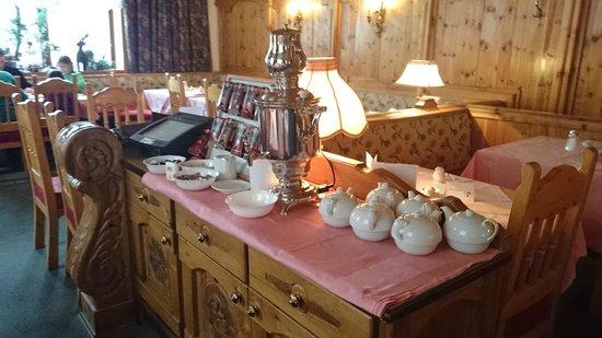 Hotel Basur: Breakfast - hot coffee, tea & chocolate