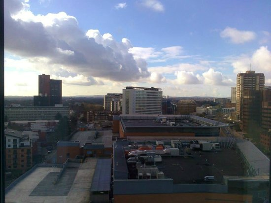 Hampton by Hilton Birmingham Broad Street: 12th floor view looking towards Five Ways roundabout.