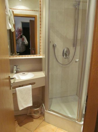 Pension Haus Wendelstein : Bathroom with Shower in Single Room