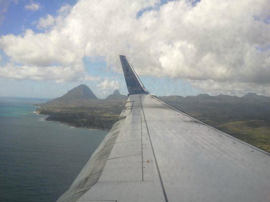 The Pitons Aerial View
