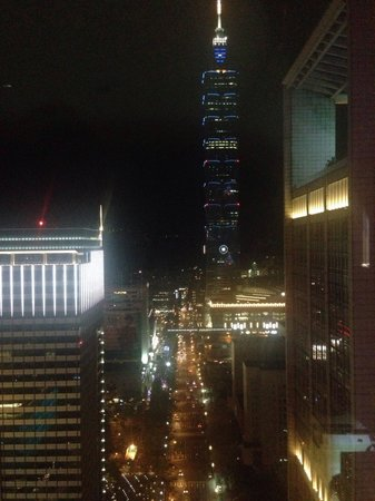 Night view of Taipei 101 from our room at W Taipei