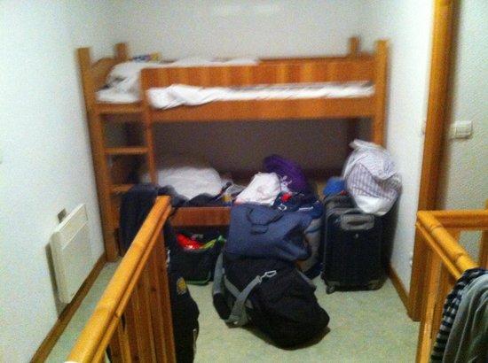 Les Chalets et Lodges des Alpages  : Lits jumeaux sur  la mezzanine . Appart 424.