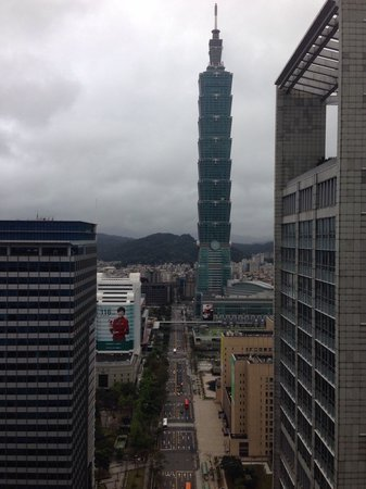 W Taipei: View of Taipei 101 by day from our room at W hotel.