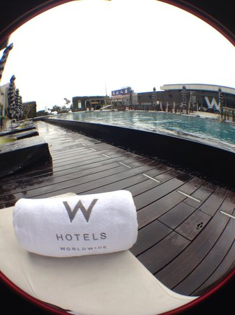 Swimming is always a treat at W Taipei as it is heated and maintained at 27-28 degrees Celsius.