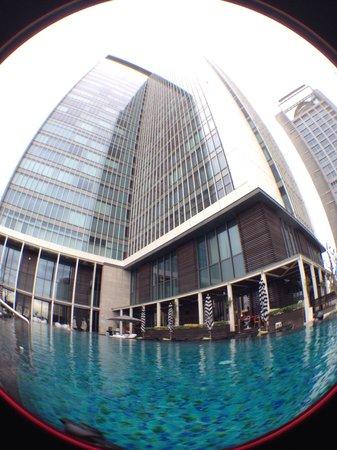W Taipei: W hotel pool and building