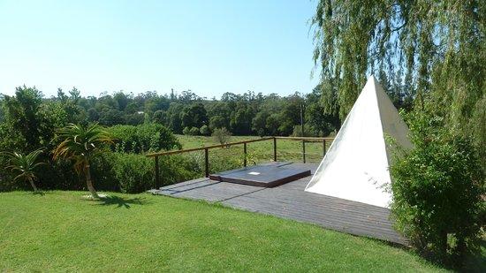 Rothman Manor: Jacuzzi overlooking Springbok & Zebra grazing