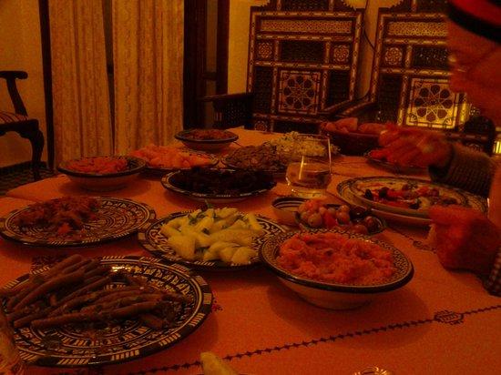 Dar Fes Medina : le repas du dernier soir